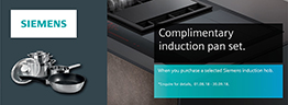 Siemens Complimentary induction pan set